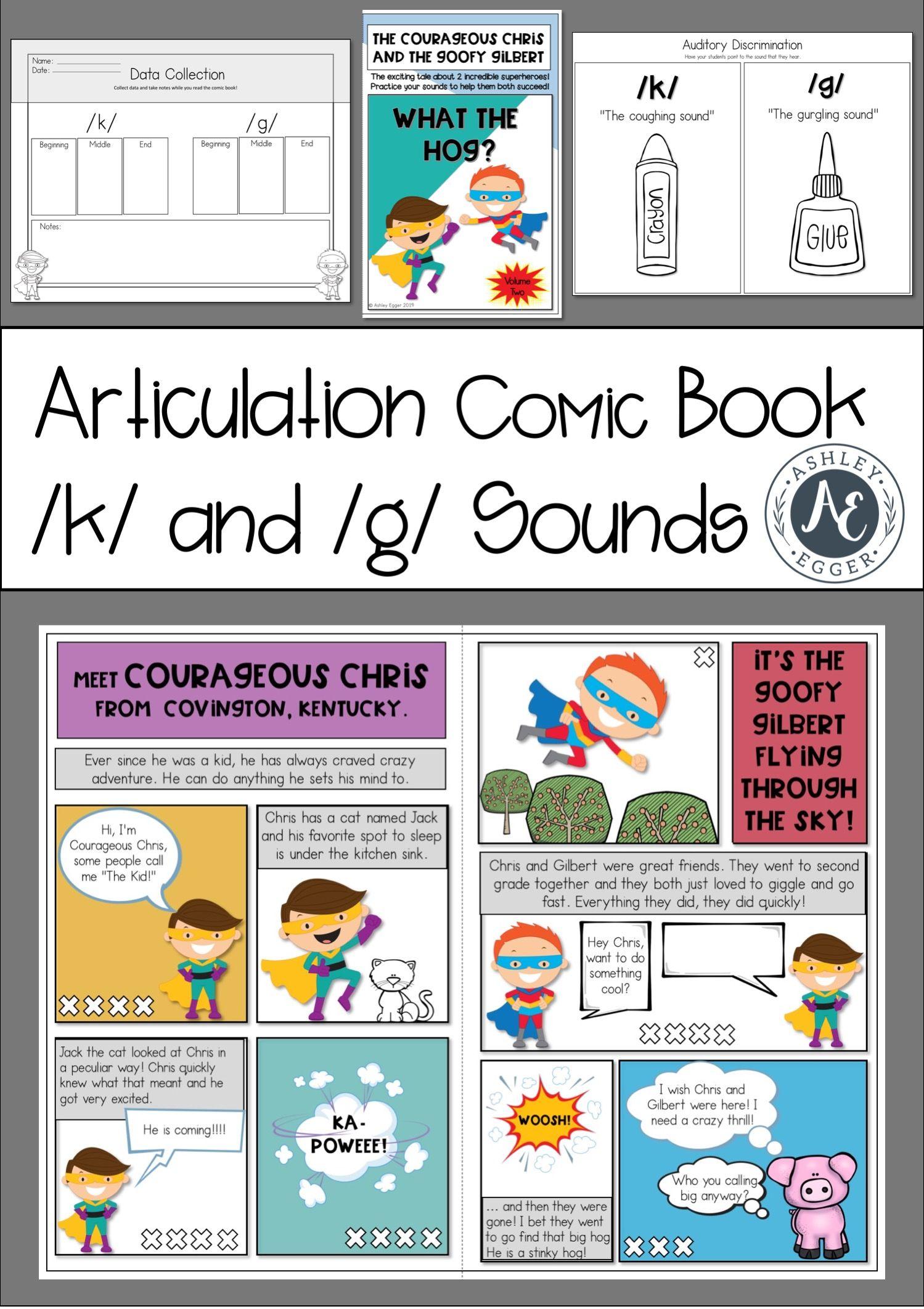 K And G Articulation Therapy Activity Elementary