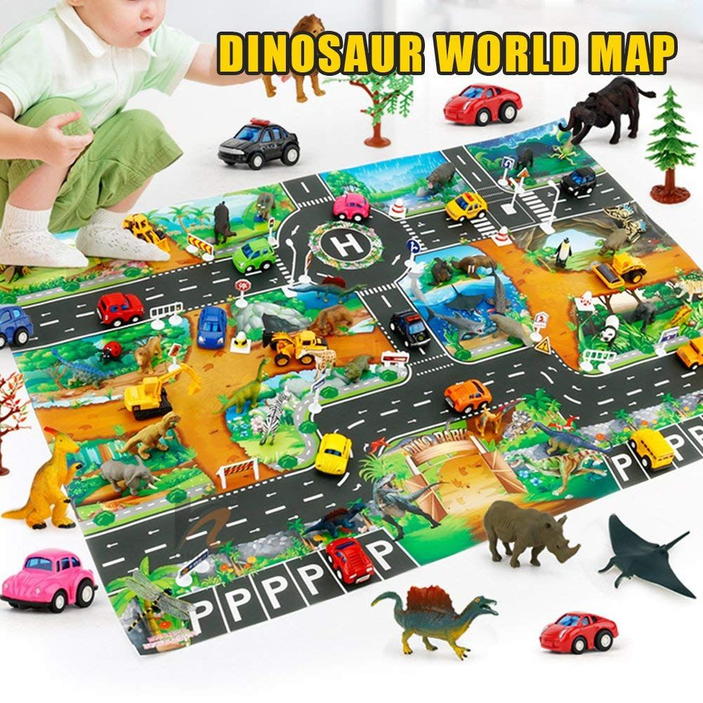 Sweetyhomes Children S Toy Game Pad Mat Dinosaur World Traffic Parking Lot View Map130100cm Check Out The Image By Ch Discovery Toys Childrens Toy Dinosaur