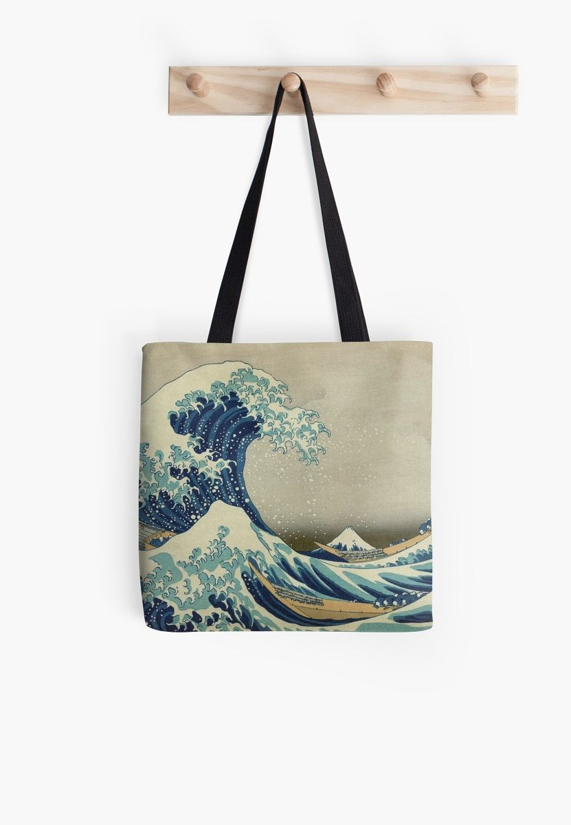 07366e5c141b3 The Classic Japanese Great Wave off Kanagawa by Hokusai Tote Bag ...