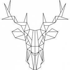Bildergebnis für geometrische tiere hirsch Geometrisches
