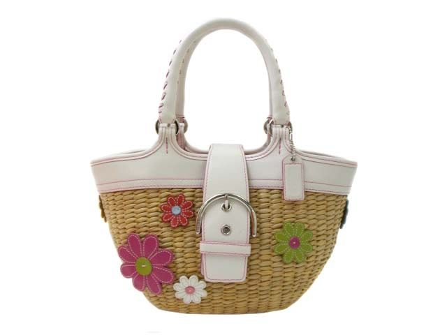 New Coach Flower Straw Handbag for Girls   Fashion   Pinterest ...