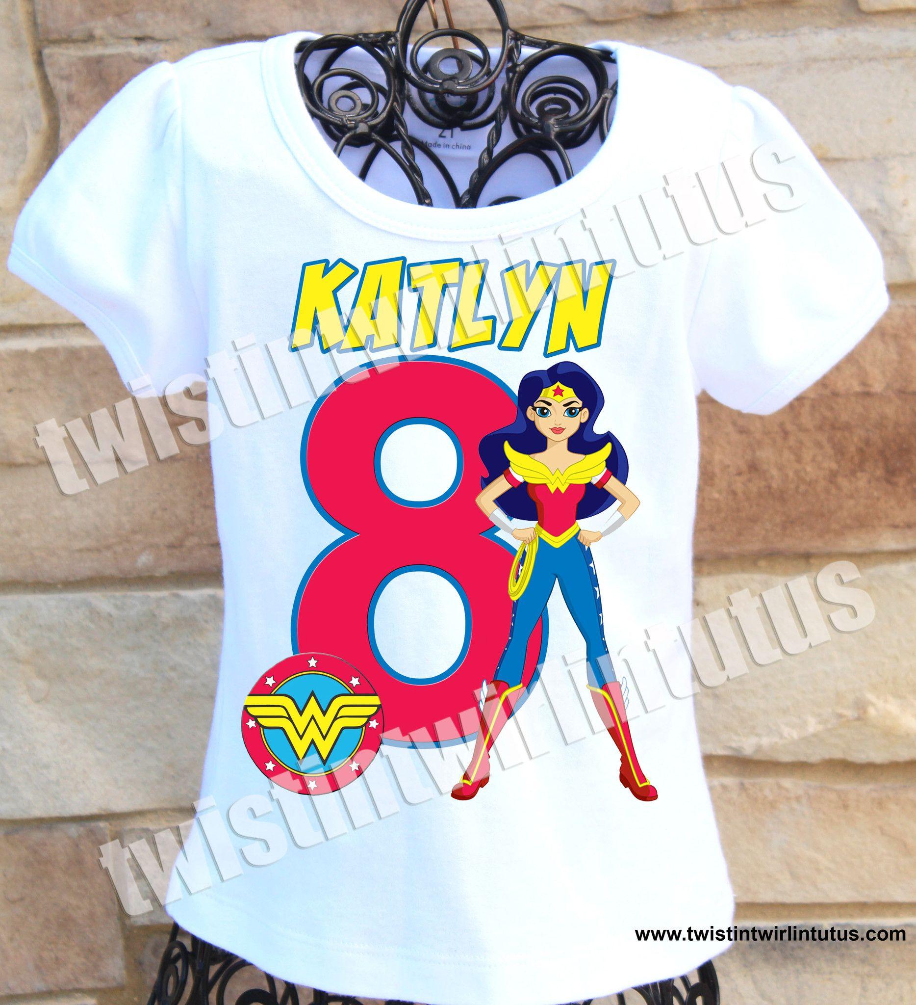 Wonder Woman Birthday Party Wonder Woman Party Supplies Wonder Woman Shirt