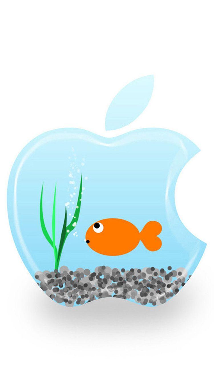 Cartoon Apple Logo Iphone 6 Wallpapers Apple Wallpaper Iphone