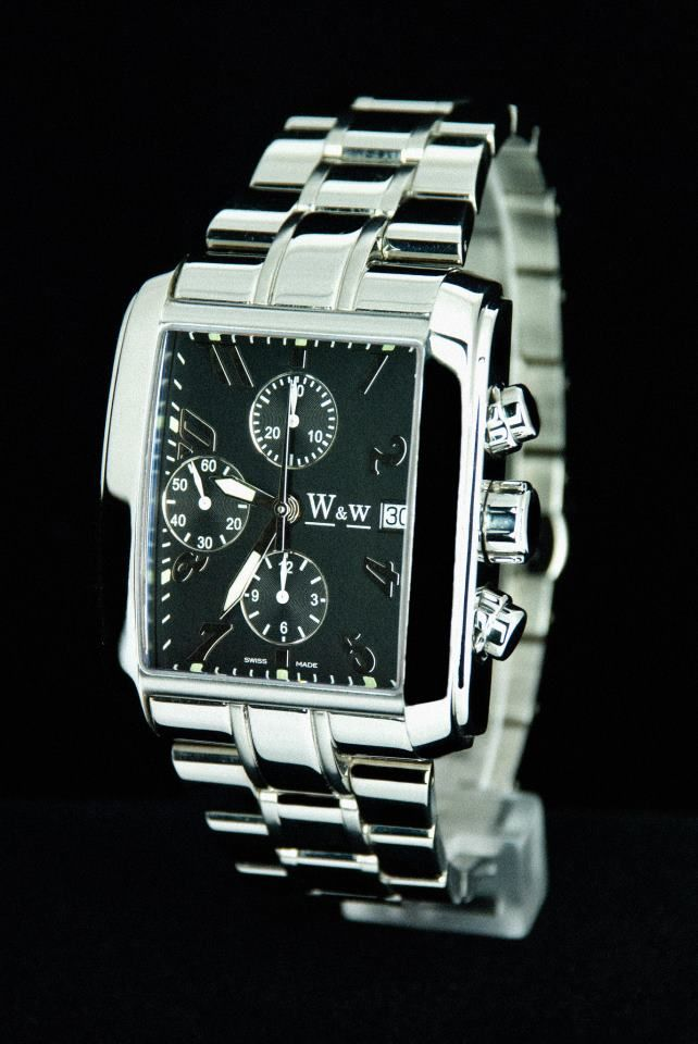 Golfer in Stainless Steel with high Grade ETA 7750 from W&w Time..Also available in PVD Black finish