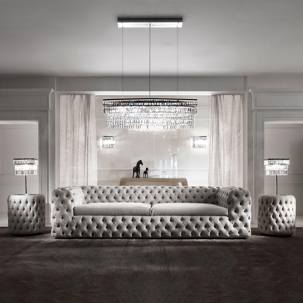 High End Modern Nubuck Leather Upholstered Sofa