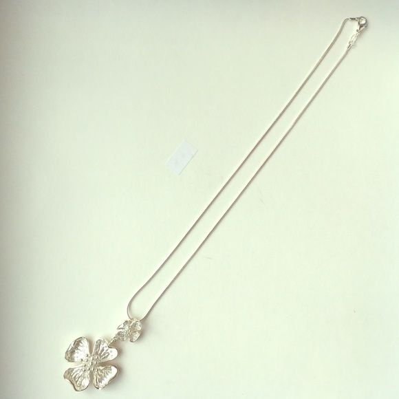 "Flower pendant necklace Sterling silver flower pendant on Sterling silver chain 18/22"" Jewelry Necklaces"