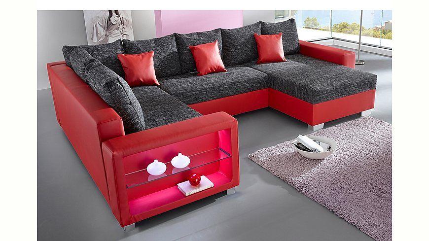 Wohnlandschaft rundecke  bunte Wohnlandschaft Reno 7066 | Diese Couch erstrahlt in den ...