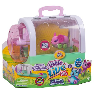 Little Live Pets Lil' Fluffy Mouse House Flitter Mouse