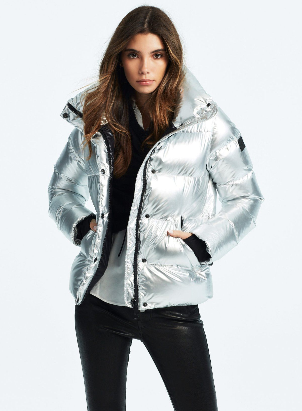 Puffy Jacket Silver Fashion Fashion Film Luxury Outerwear [ 1633 x 1200 Pixel ]