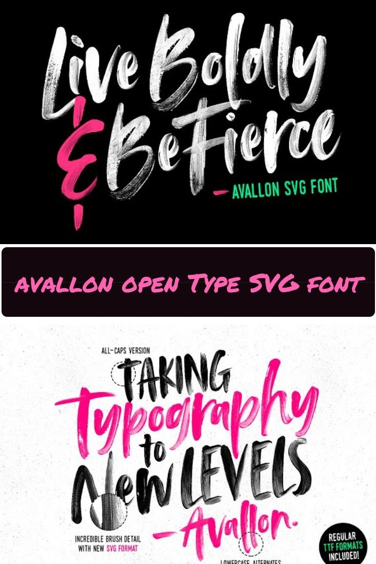 Avallon Is A Handpainted Brush Font Using High Resolution Brush