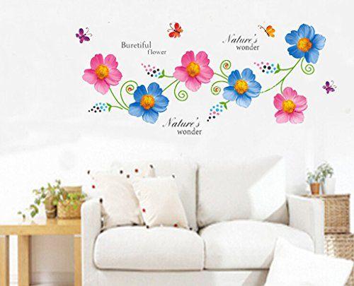 Kamays pvc beautiful flowers decor wall stickers art decal xy8138 kamays http