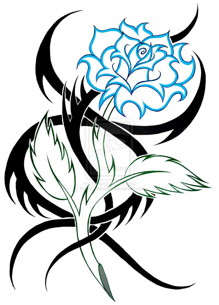 Tribal Rose Rose Tribal 2 By Katieconfusion Tribal Drawings