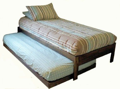 Santa Cruz Extra Long Twin Bed With Twin Trundle Rustic Walnut