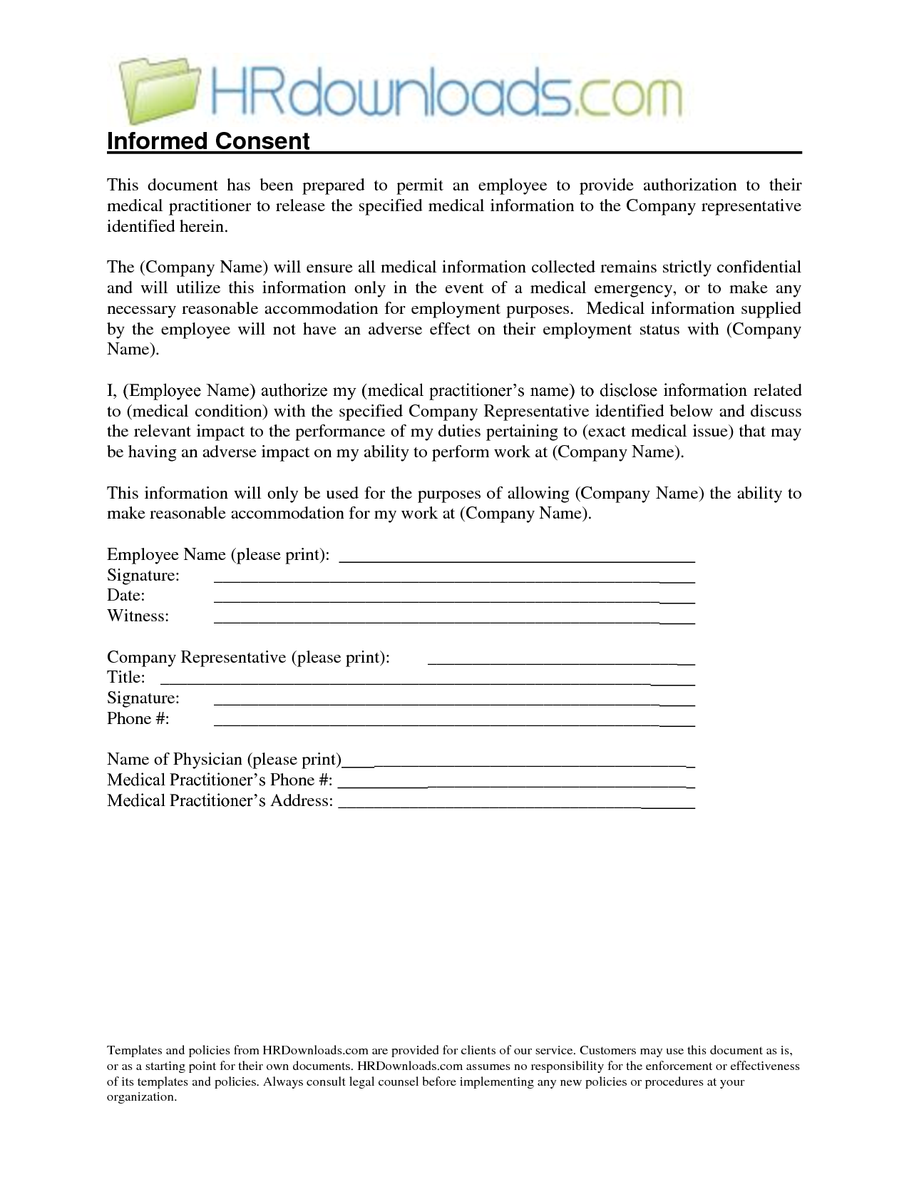 Medical Release Form Sample | Medical Release Of Information Form Template Authorization To