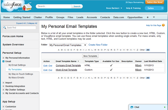 Salesforce Substance How To Create Email Template In