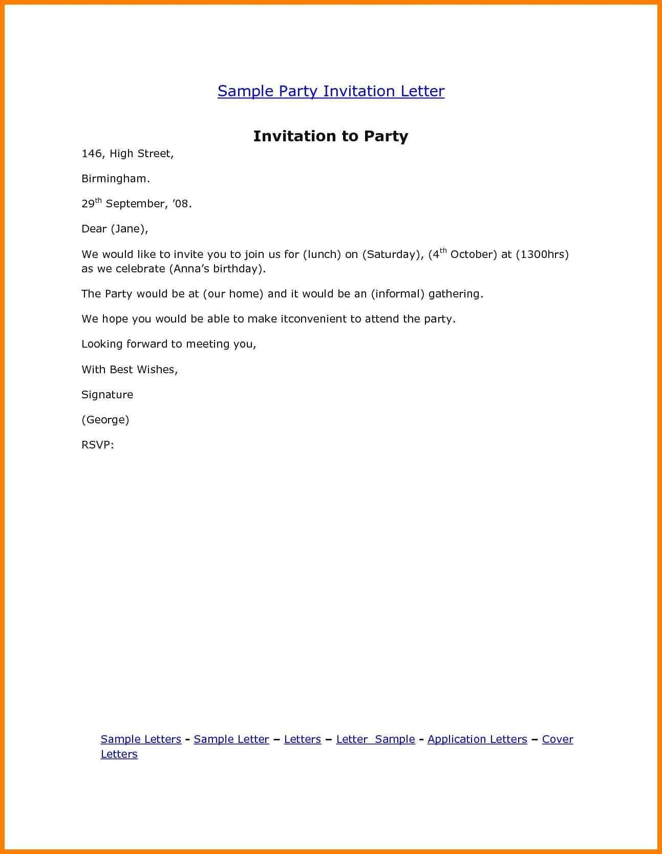 Event Invitation Email Format Check more at http://www