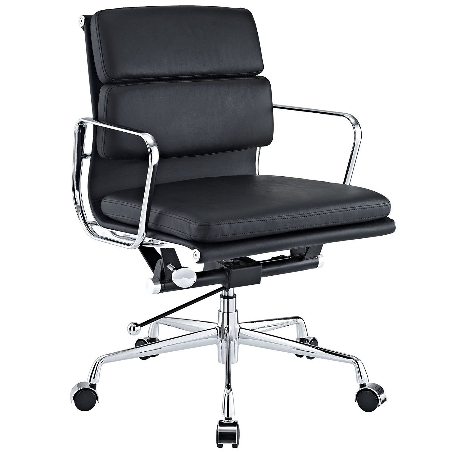 reproduction office chairs. Amazon.com: EMod - Eames Style Softpadded Management Office Chair Reproduction Leather Black: Chairs U