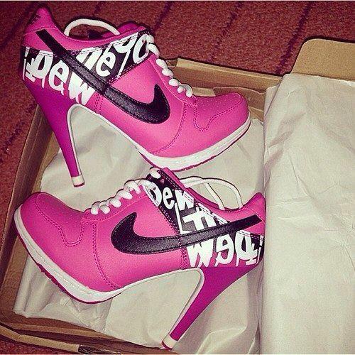 Zapatillas Nike rosa!