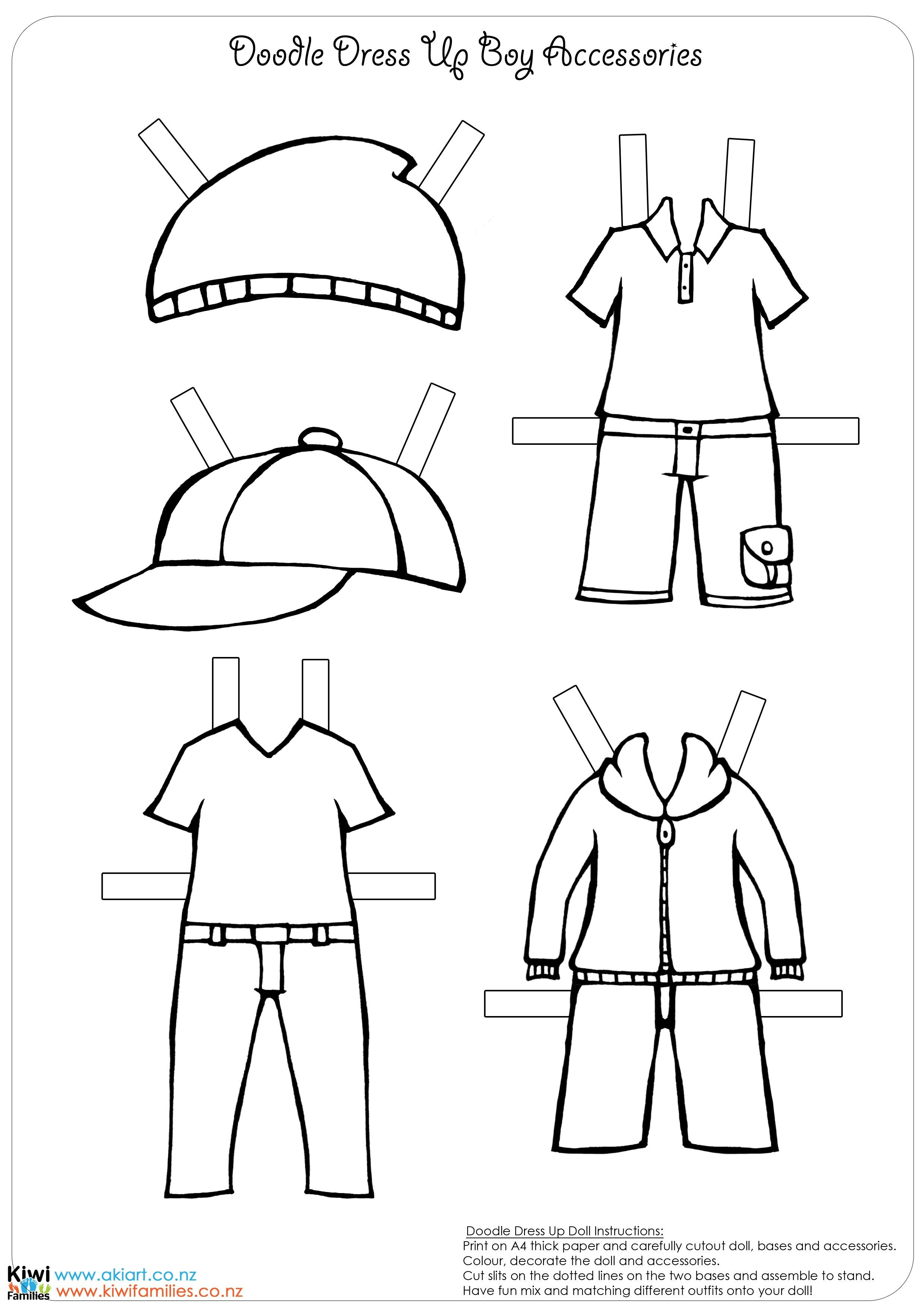 Paper Doll Template Boy Photos Of Boy And Girl Template Print