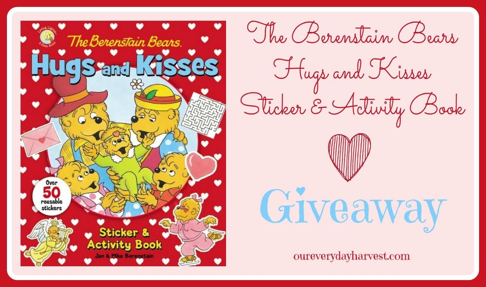 The Berenstain Bears Hugs And Kisses Sticker Amp Activity