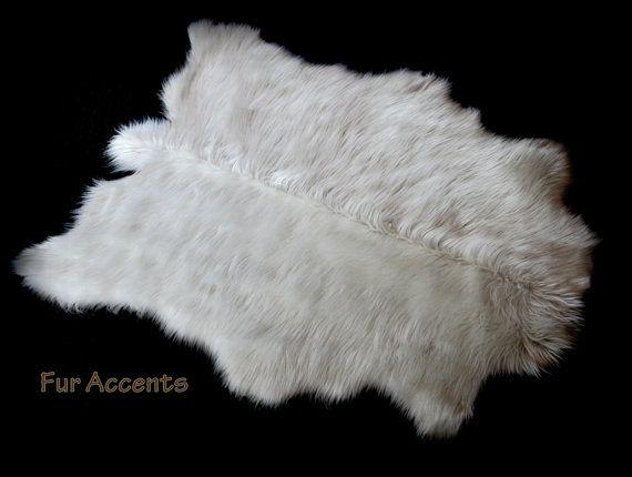 Sheepskin Area Pelt Rug Faux Fur Fake Polar Bear Accent Throw Carpet Animal Friendly Fur 6 Sizes Bright White N Animal Skin Rug Bear Rug Pelt Rugs
