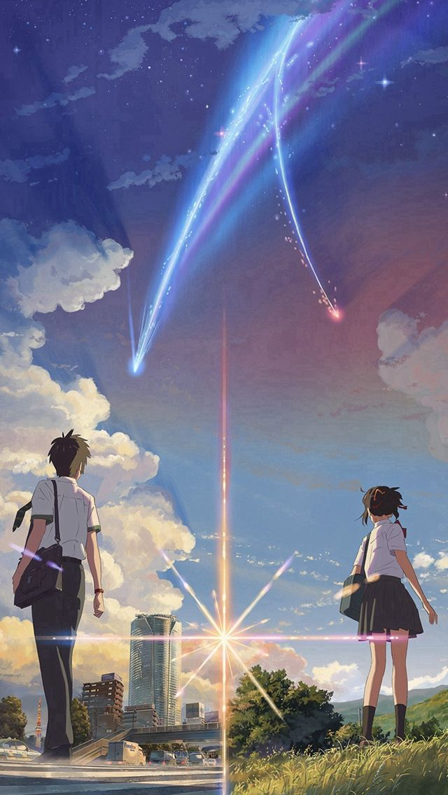 Anime Film Yourname Sky Illustration Art Iphone 5s