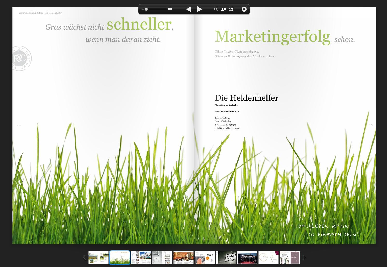 Gras wächst nicht schneller, wenn man daran zieht. Marketingerfolg schon. http://www.die-heldenhelfer.de