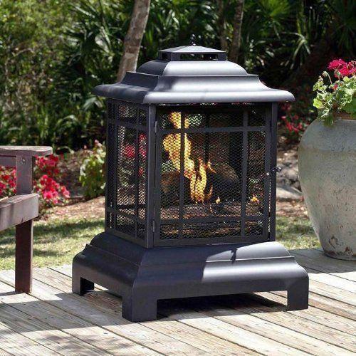 Patio Fireplace Pit Fire Sense Pagoda Outdoor Wood Burning Stove Garden Heater
