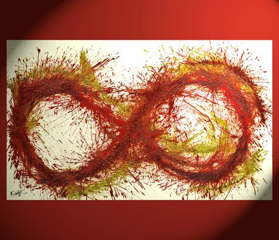 Eternity Symbol 3  Original Canvas Abstract by AbstractArtEXP, $179.00