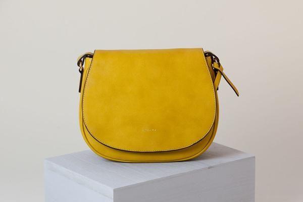 Morning Cross Body Mustard Vegan Leather Handbag Mustard Handbag Vegan Purses