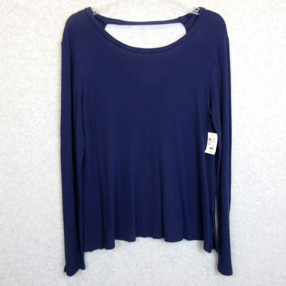 43631286 New Aeropostale Womens Size Large Ribbed Navy Blue Long Sleeve Top Shirt  NWT #fashion #clothing #shoes #accessories #womensclothing #tops (ebay link)