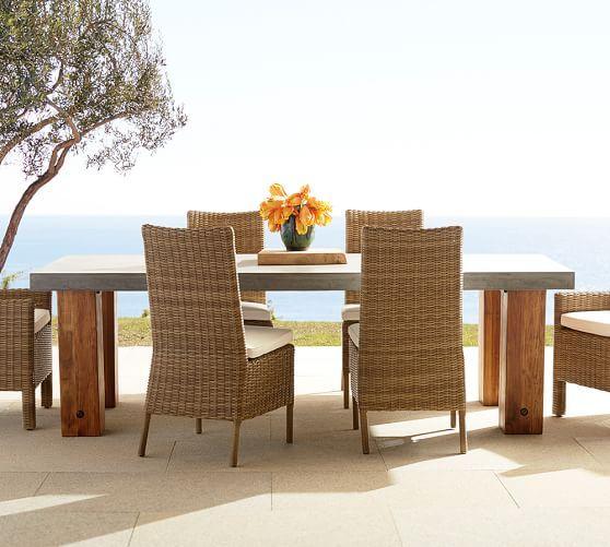 Abbott chunky leg rectangular dining table pottery barn