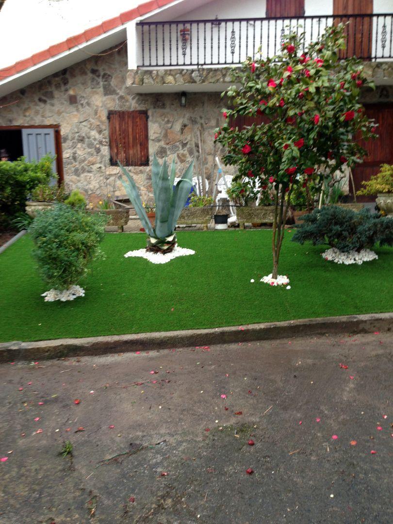 jardin cesped artificial y vivienda ideas jardín pinterest