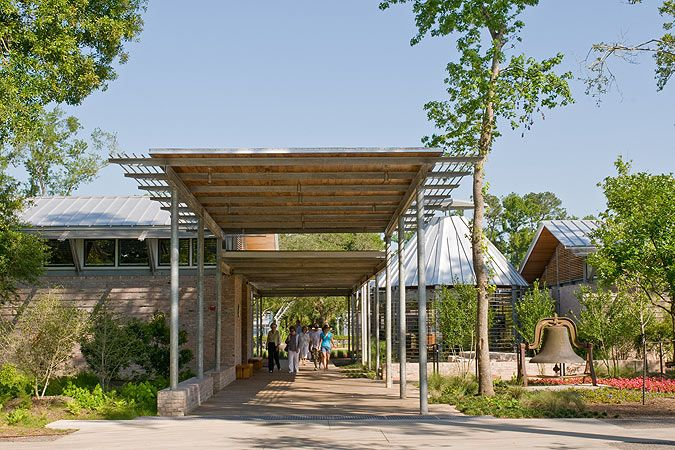 Shangri La Botanical Gardens Nature Center Lake Flato Architects Mbrc Pinterest