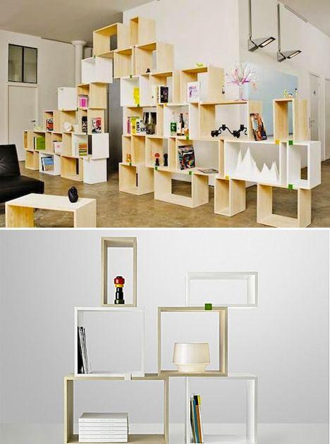 Modular Box Bookshelf. Bookshelf Room DividerBookshelf DesignSpace ...
