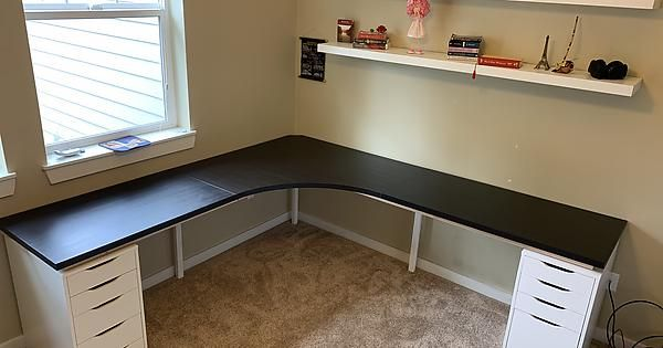 ikea linnmon alex desk corner