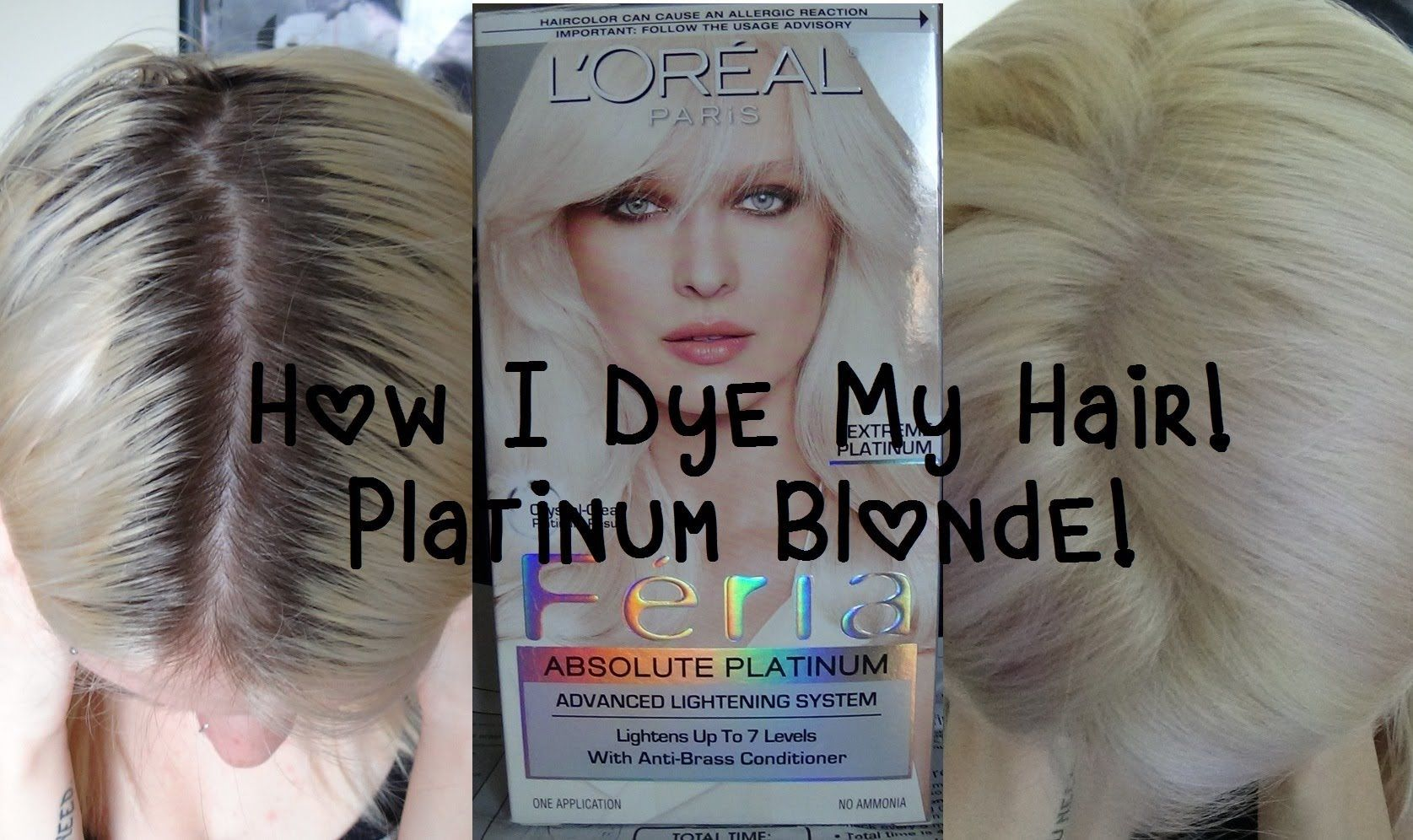 Updated How I Dye My Hair Platinum Blonde At Home Hair Color Dying Hair Blonde Boxed Hair Color