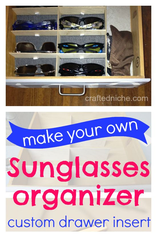 App Drawer Organizer Awesome Make Your Hown Sunglasses Organizer  Custom Drawer Insertfrom Design Ideas