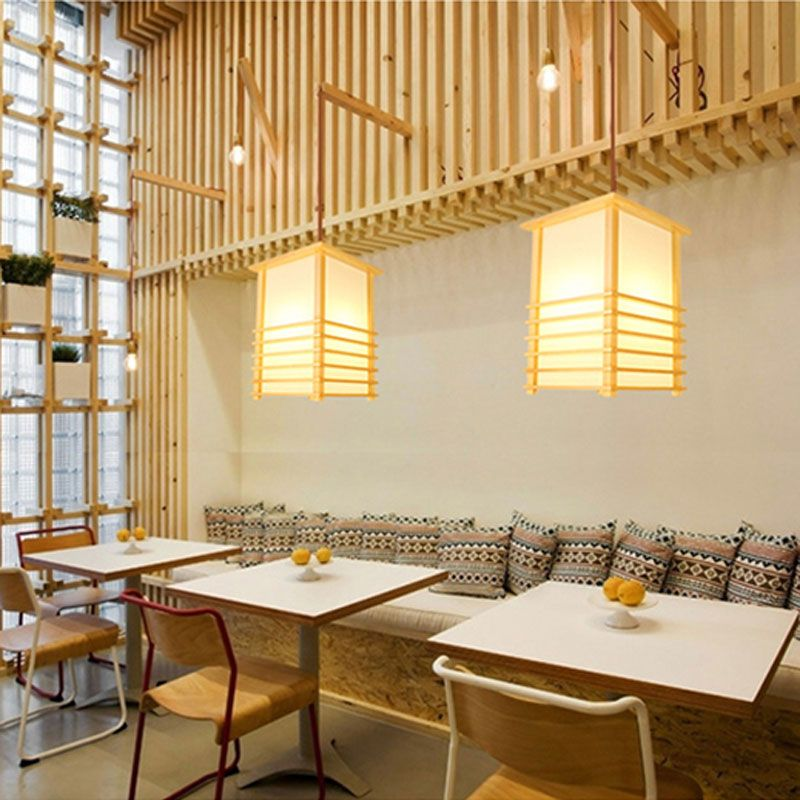 Suspension Simple En Bois Massif Pour Chambre A Coucher Restaurant