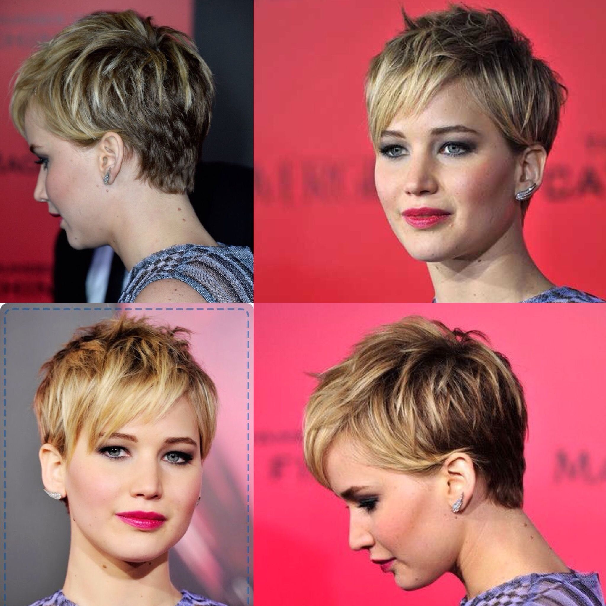 Dp Petite Ivory Spot Print Roll Sleeve Shirt Jennifer Lawrence Short Hair Jennifer Lawrence Hair Short Hair Styles Pixie