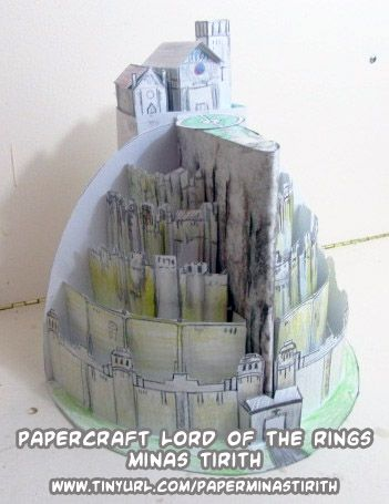 D L Papercraft Lord Of The Rings Minas Tirith Castle Paper