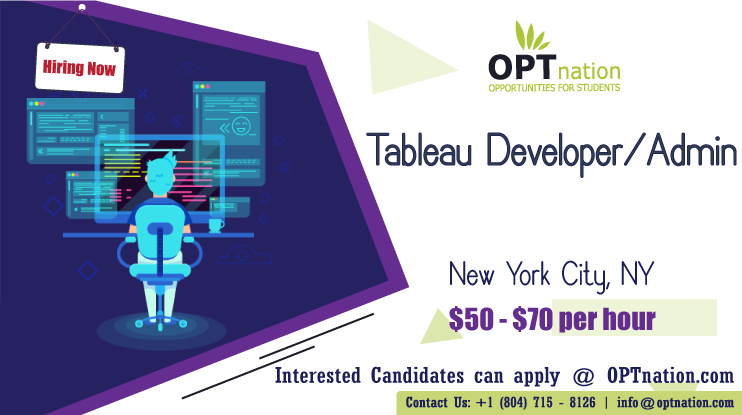 We're Hiring Tableau Developer in New York City, NY. Build