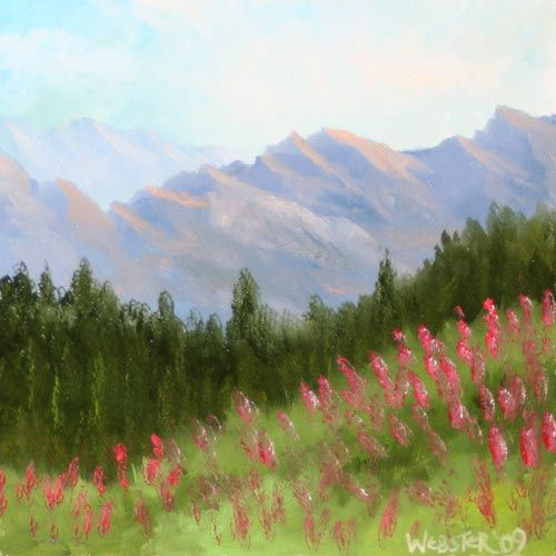 Mountain Series 1 6x6 Landscape Painting Daily Painter Original Oil And Acrylic Art Painting A Day By California Artist Mark A Webster Easy Landscape Paintings Simple Acrylic Paintings Landscape Paintings Acrylic