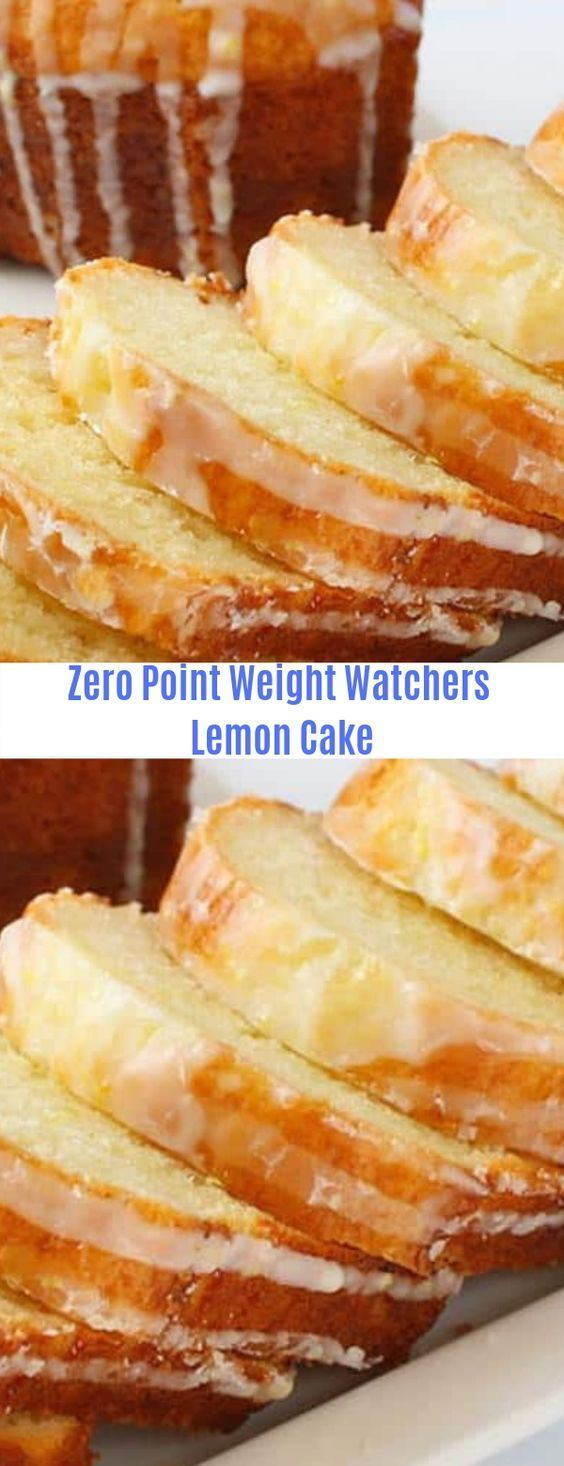 Zero point Weight Watchers Lemon Cake WatchersZero PointsLemon