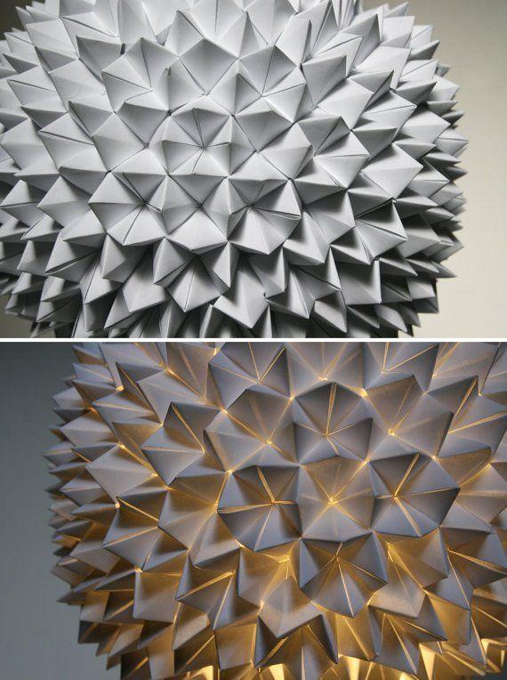 26 kreative lampen aus papier house papier lampenschirm basteln und lampen. Black Bedroom Furniture Sets. Home Design Ideas