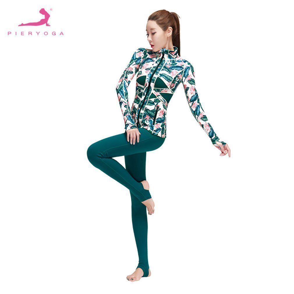 6f6c3d0614036 Pieryoga Women Sport Yoga Set Gym Running Sport Suit Fitness Workout  Clothes Lu  yogaset