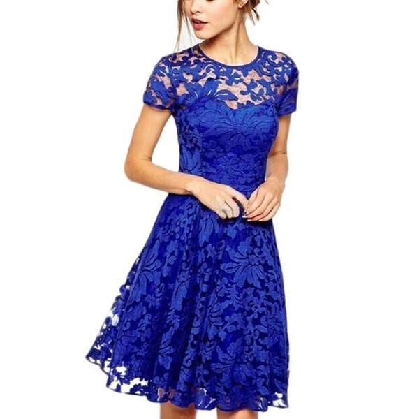 Gender: WomenDecoration: Hollow OutWaistline: NaturalSleeve Style: RegularPattern Type: SolidStyle: CasualMaterial: Polyester,SpandexSeason: SummerDresses Lengt