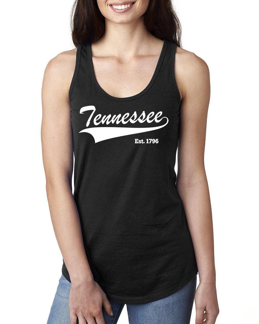 Tennessee Ladies Racerback Tank Top #Tennesseestate #Tennessee #state #home #Tennesseetanktop