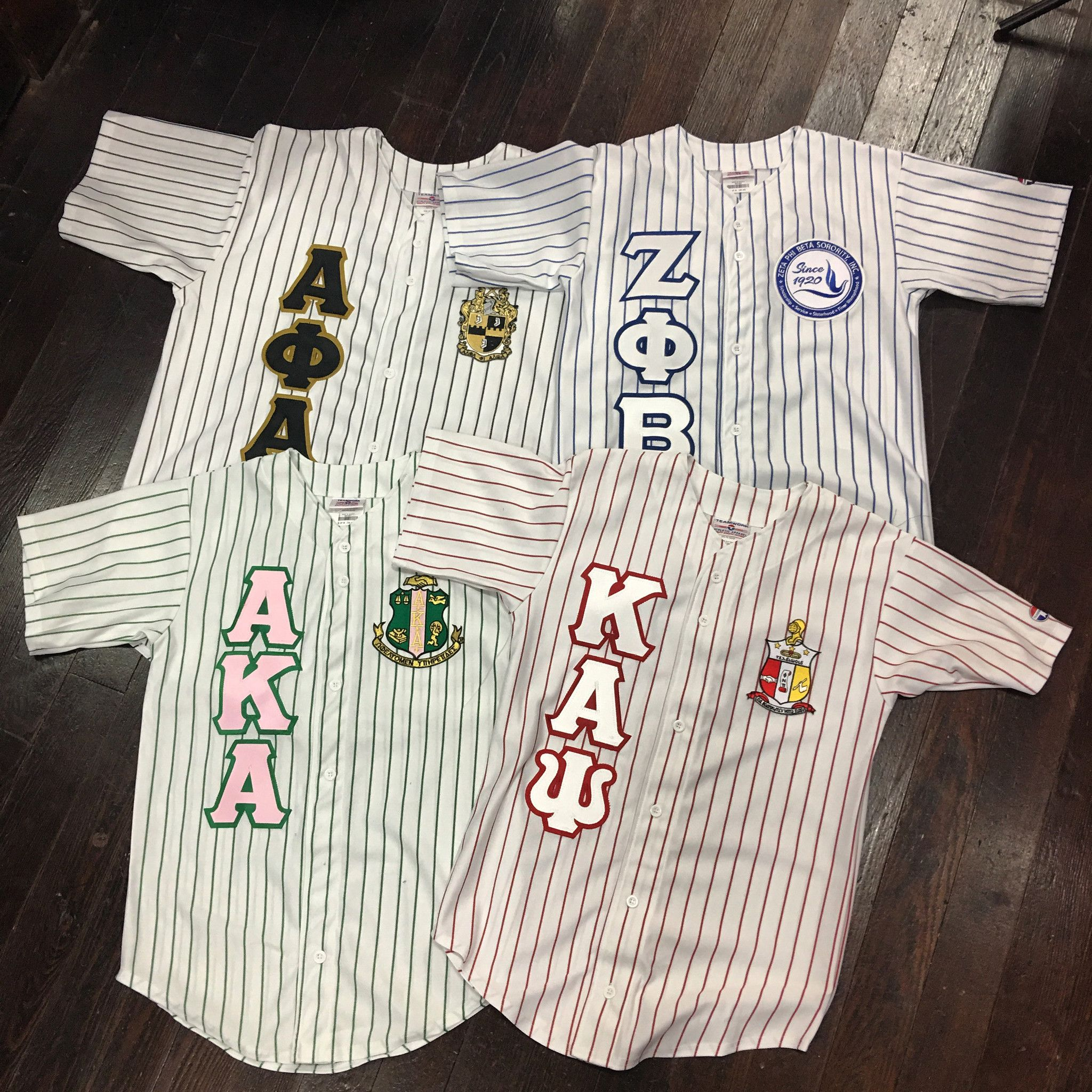 Sewn Letter Pinstripe Baseball Jersey With Images Sorority And