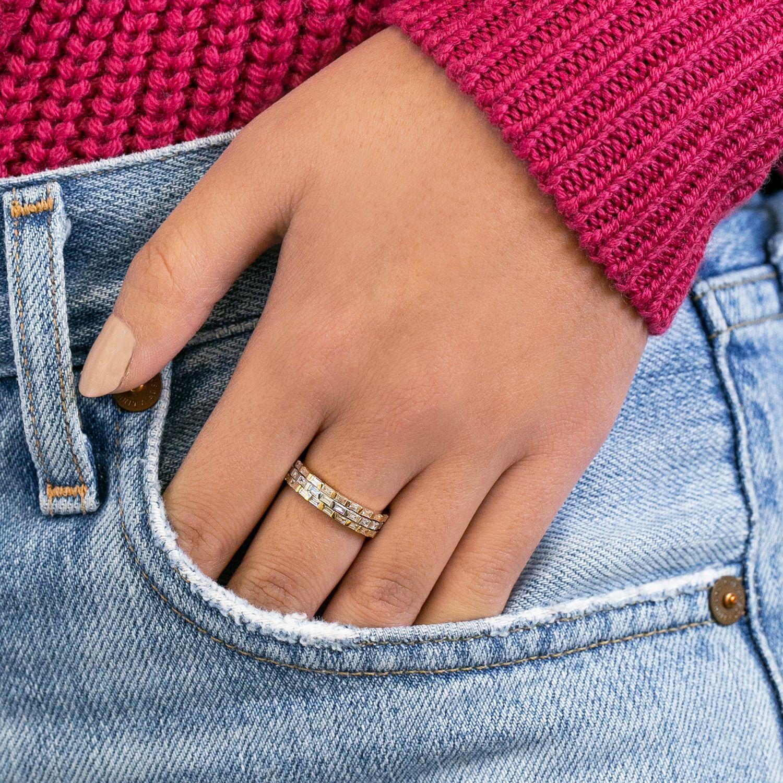 Sadie Pearl Baguette Eternity Ring Eternity Ring Baguette Eternity Ring Eternity Band Diamond